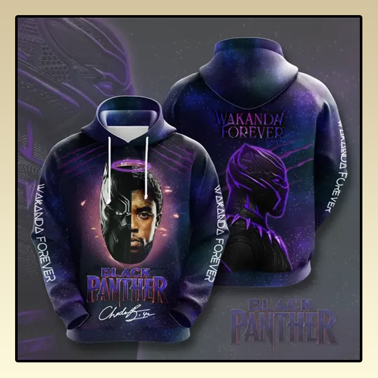 Black Panther Wakanda forever All over print 3d hoodie3 1