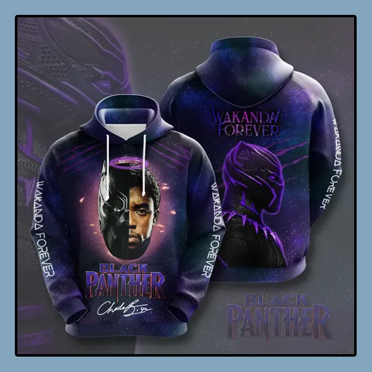 Black Panther Wakanda forever All over print 3d hoodie4 1
