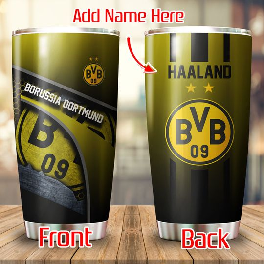 Borussia Dortmund Custom Name Tumbler