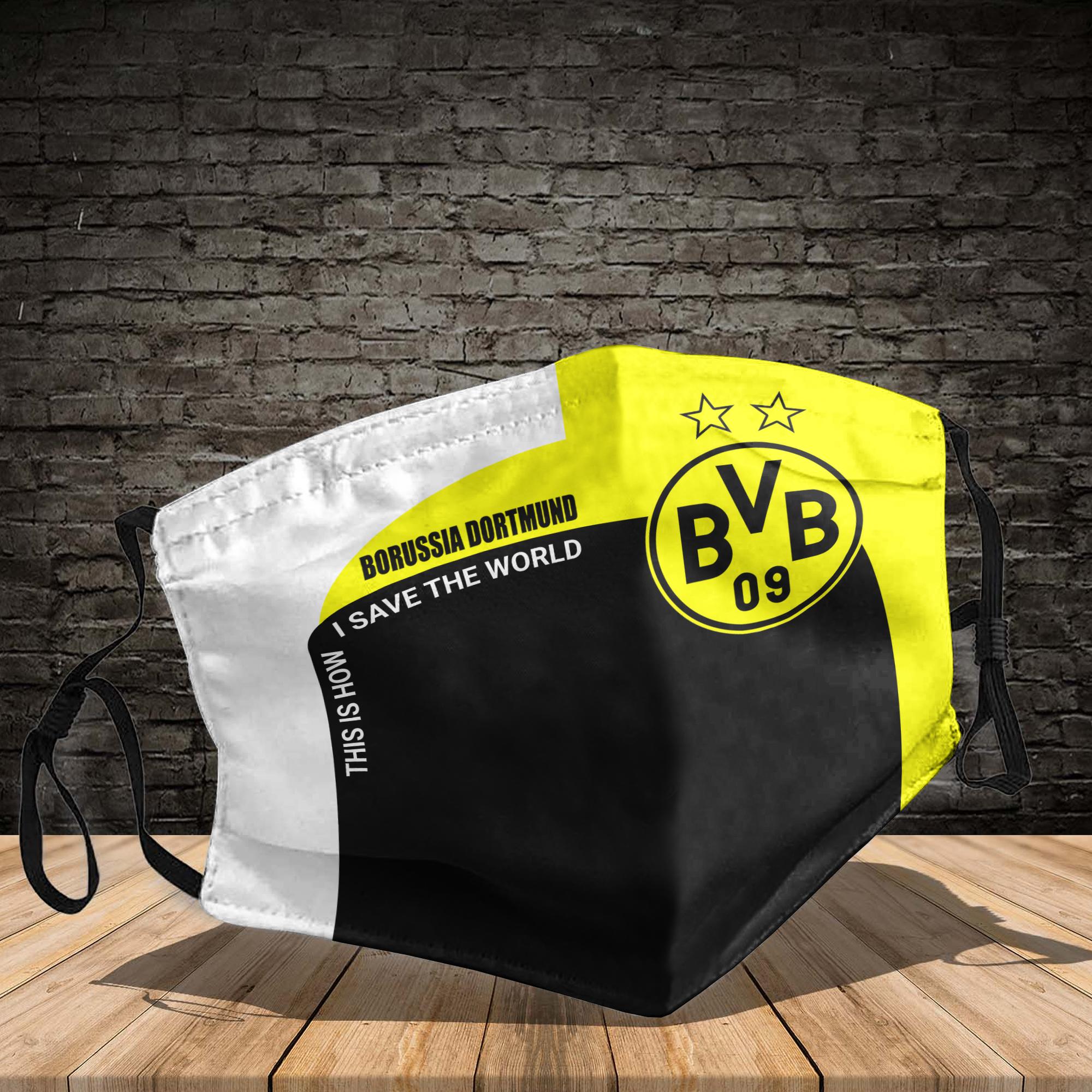 Borussia dortmund face mask