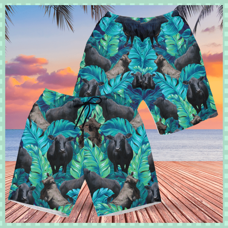 Brangus cattle Hawaiian shorts 2