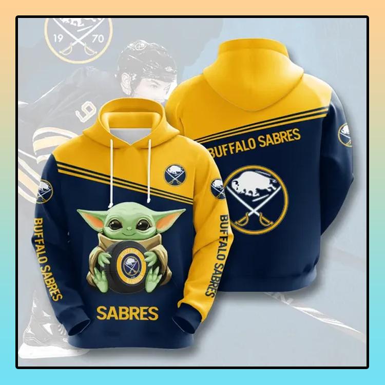 Buffalo Sabres Baby Yoda All over print 3d hoodie1 1