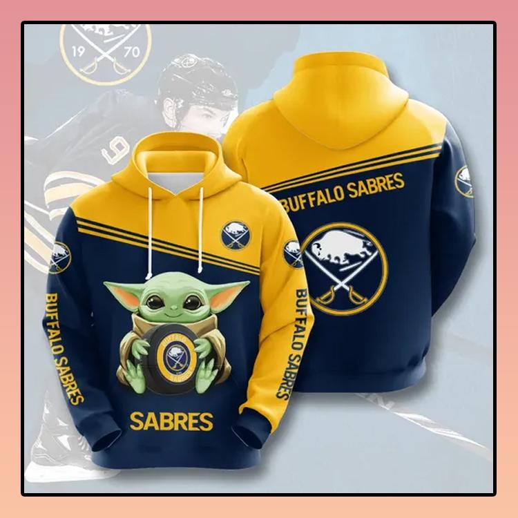 Buffalo Sabres Baby Yoda All over print 3d hoodie2 1