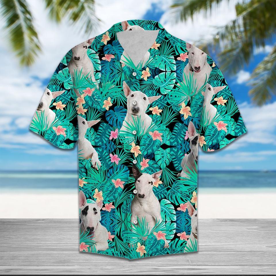 Bull terrier hawaiian shirt
