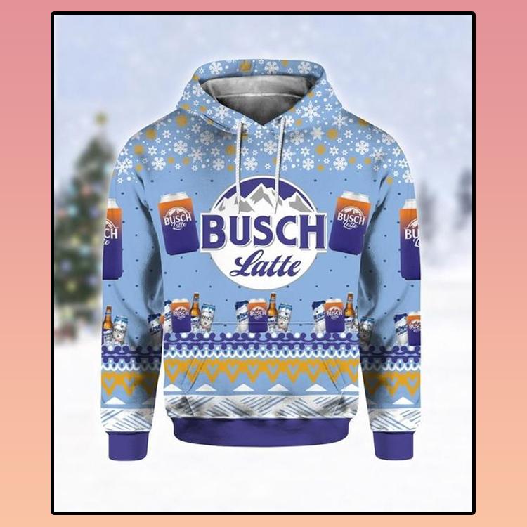 Busch Latte Beer Ugly Christmas 3D Hoodie 3 1
