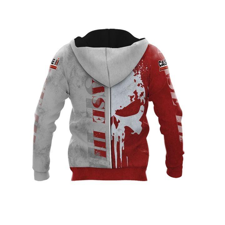 Case IH punisher skull 3d over print hoodie 2