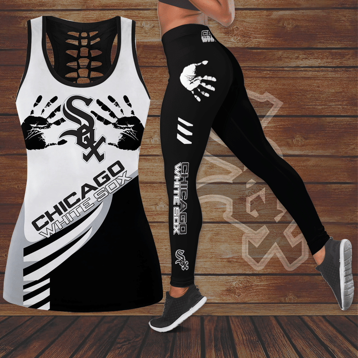 Chicago White Sox hollow Tank Top And Legging Set