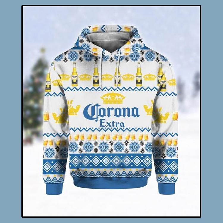 Corona Extra Beer Ugly Christmas 3D Hoodie 1 1