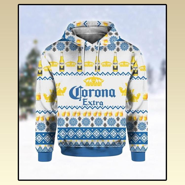 Corona Extra Beer Ugly Christmas 3D Hoodie 2 1