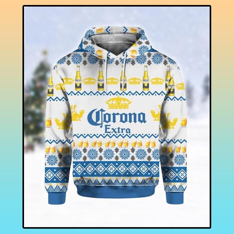 Corona Extra Beer Ugly Christmas 3D Hoodie 4 1