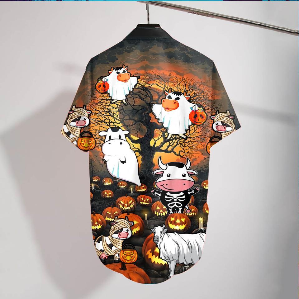 Cow halloween hawaiian shirt2