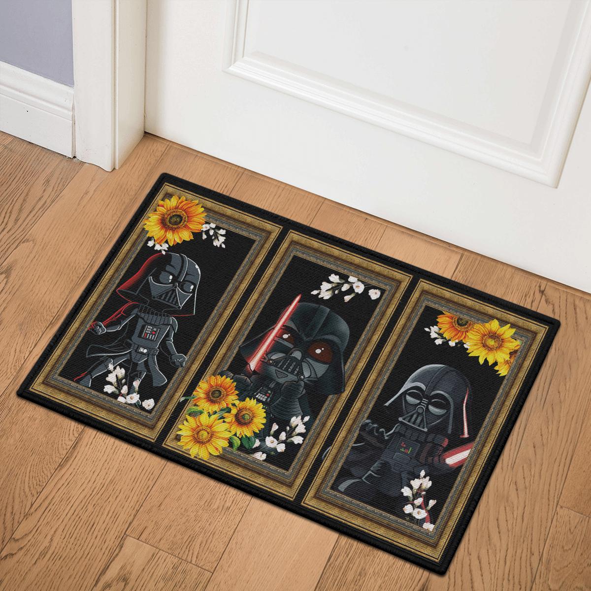 Darth Vader sunflowers doormat 2