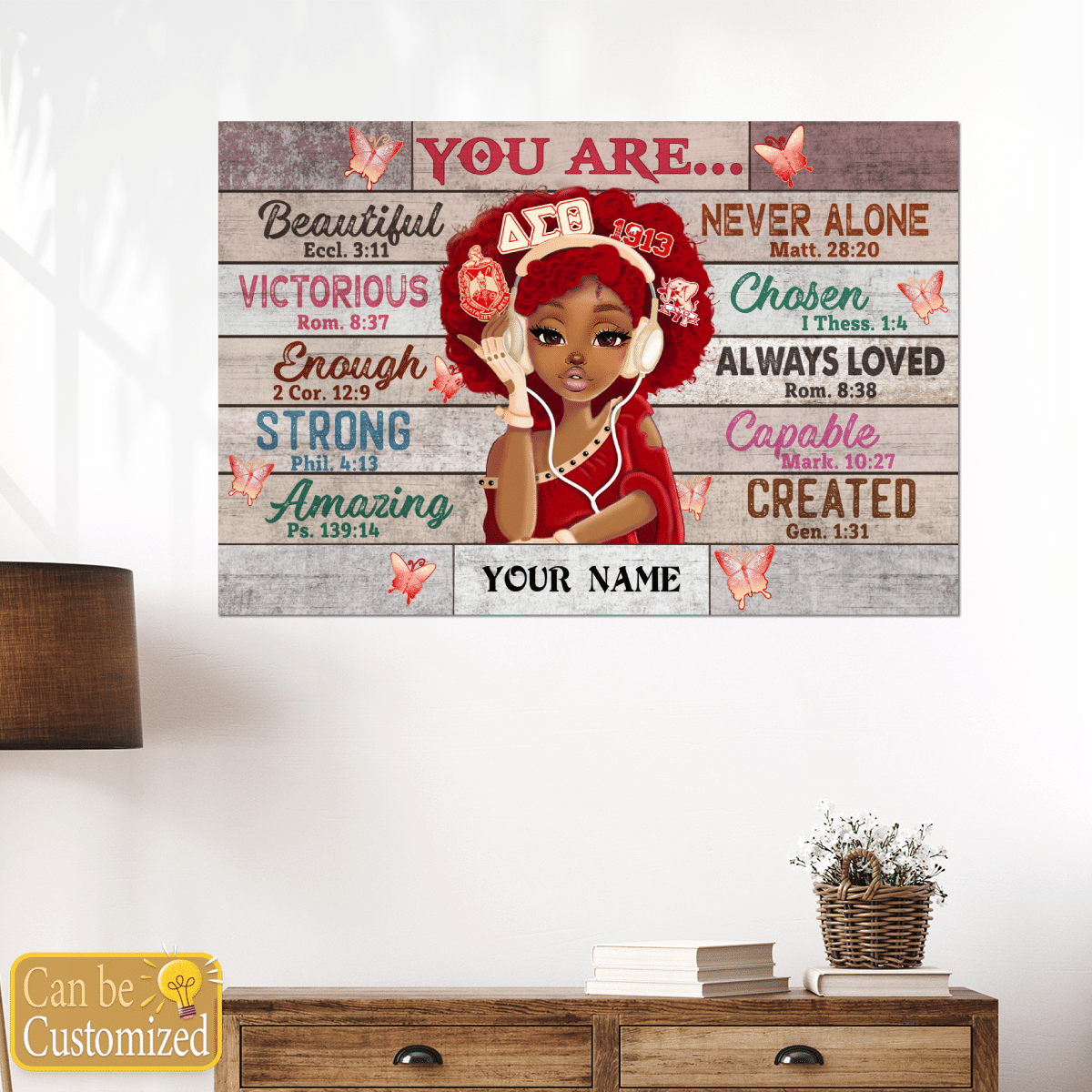 Delta Sigma Theta Black teenage you are beautiful strong always loved custom name poster 2