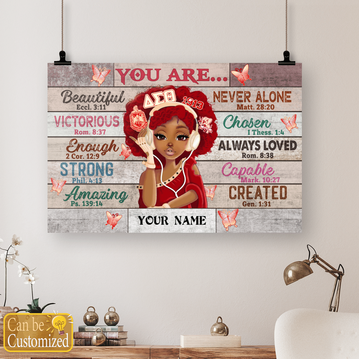 Delta Sigma Theta Black teenage you are beautiful strong always loved custom name poster 4