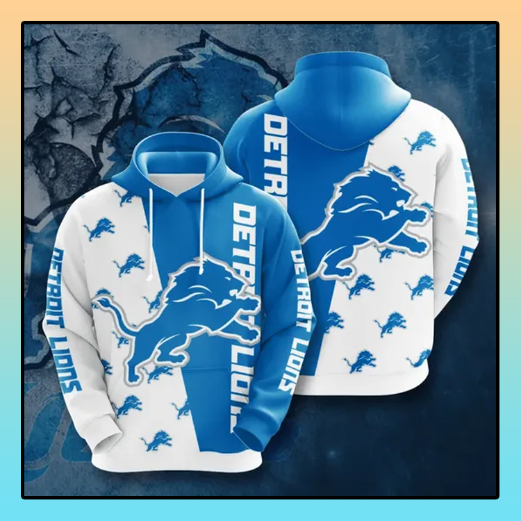 Detroit Lions All over print 3d hoodie1 1