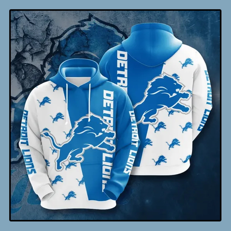 Detroit Lions All over print 3d hoodie4 1