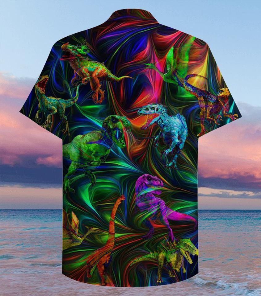 Dinosaur fantasy hawaiian shirt1