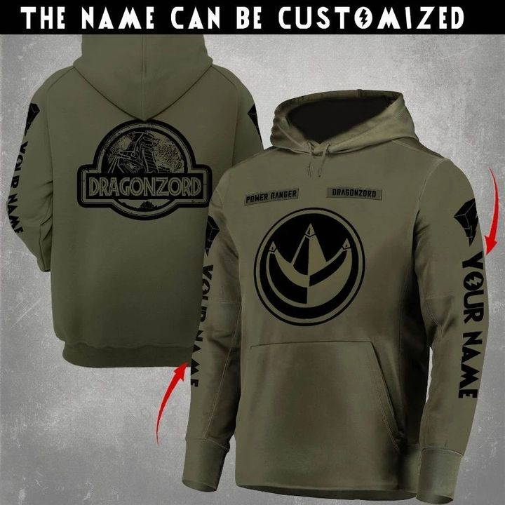 Dragonzord Mighty Morphin Power Rangers symbol hoodie