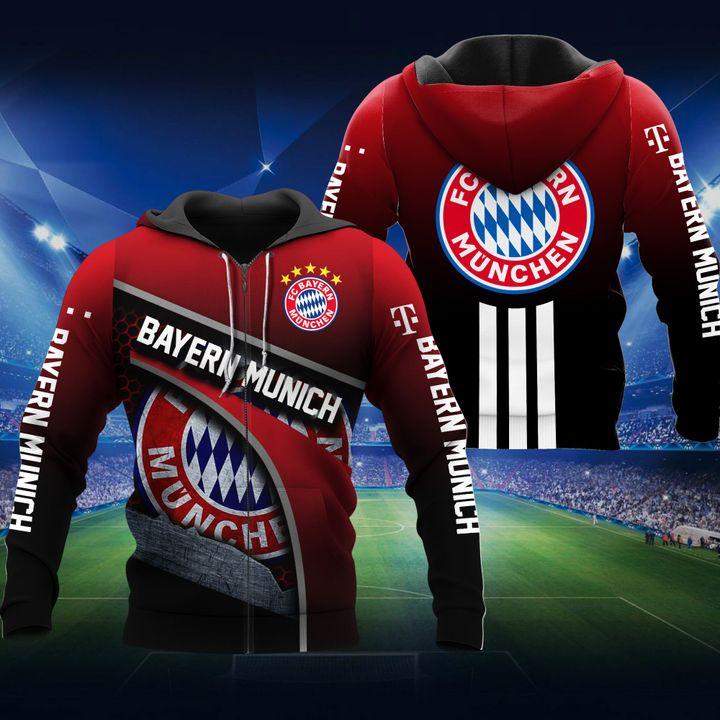 FC Bayern Munchen football 3d all over print hoodie