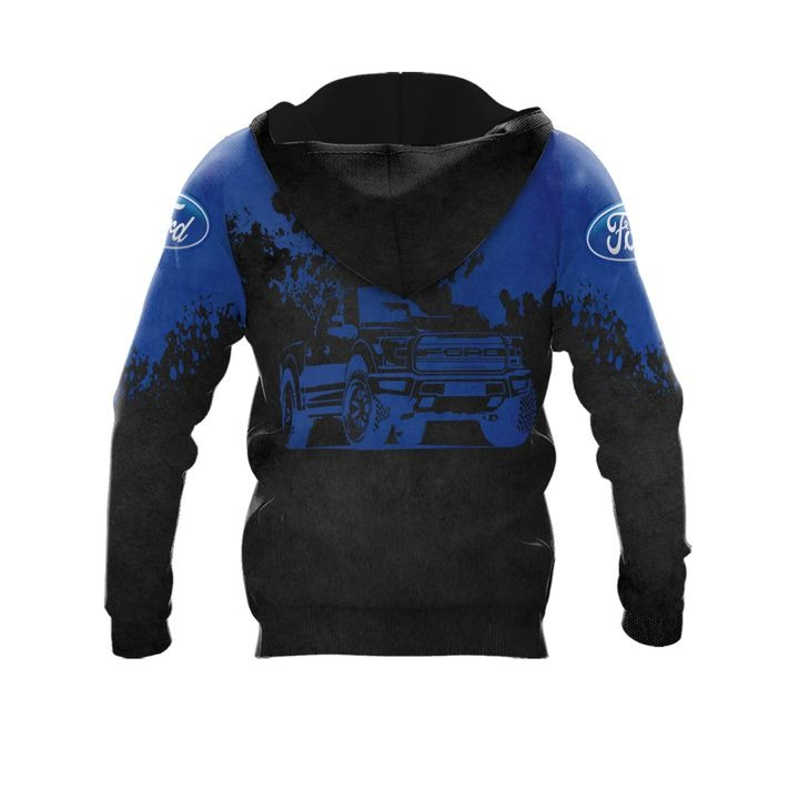 Ford punisher skull 3d over print hoodie 2