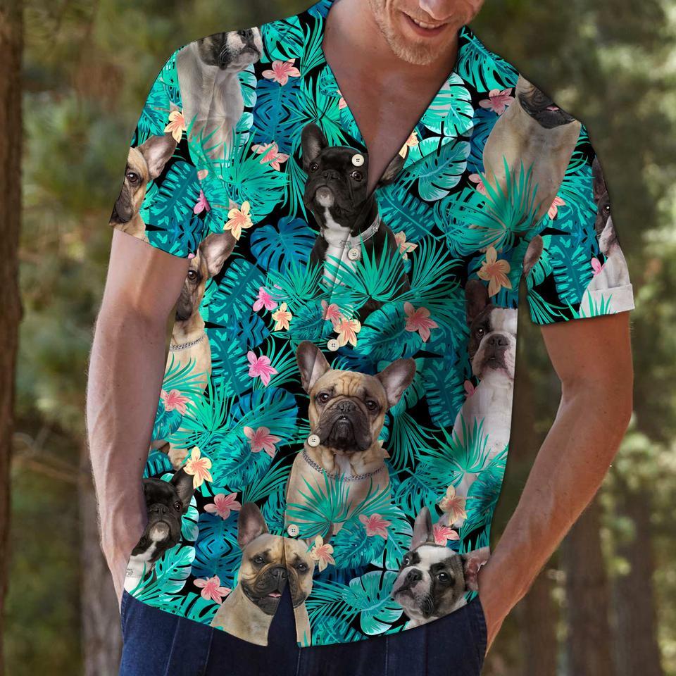 French bulldog tropical hawaiian shirt1