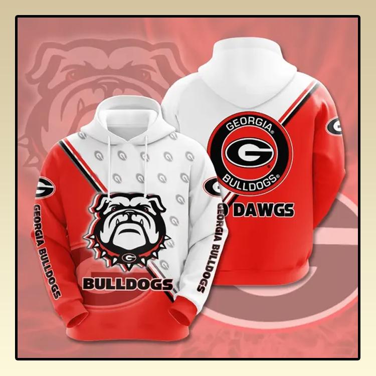 Georgia Bulldogs All over print 3d hoodie2 1