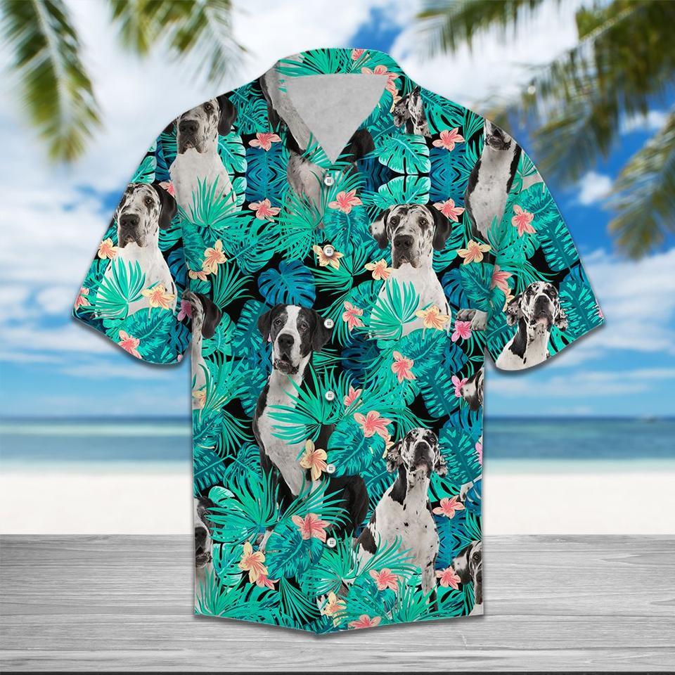 Great dane hawaiian shirt