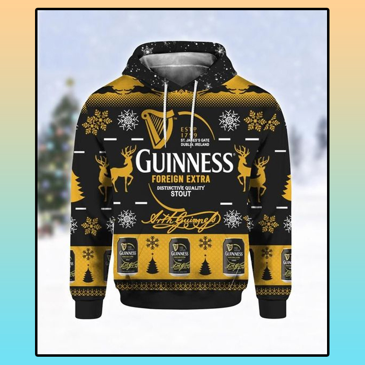 Guinness Foreign Extra Ugly Christmas 3D Hoodie 1 1