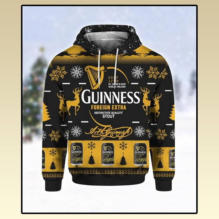 Guinness Foreign Extra Ugly Christmas 3D Hoodie 3 1