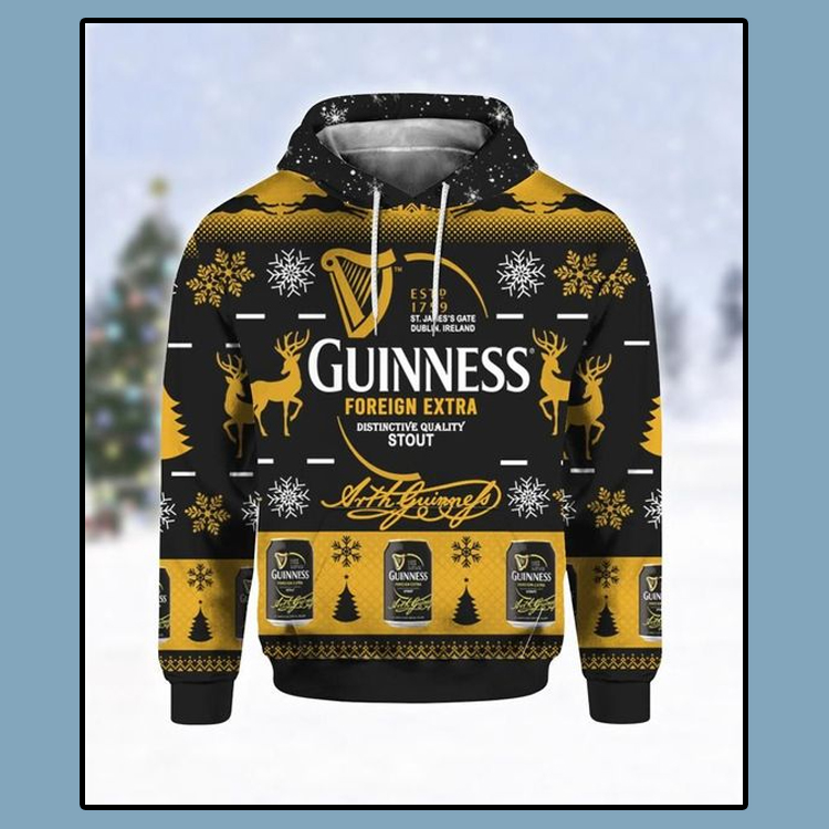 Guinness Foreign Extra Ugly Christmas 3D Hoodie 4 1
