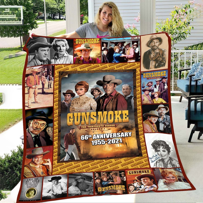 Gunsmoke 66th anniversary 1955 2021 blanket