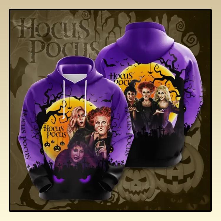 Halloween hocus pocus All over print 3d hoodie2 1