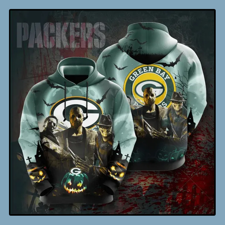 Horror Character Green Bay Packers All over print 3d hoodie