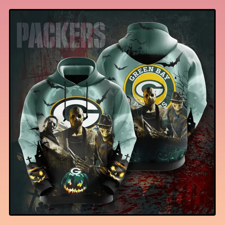 Horror Character Green Bay Packers All over print 3d hoodie3 1