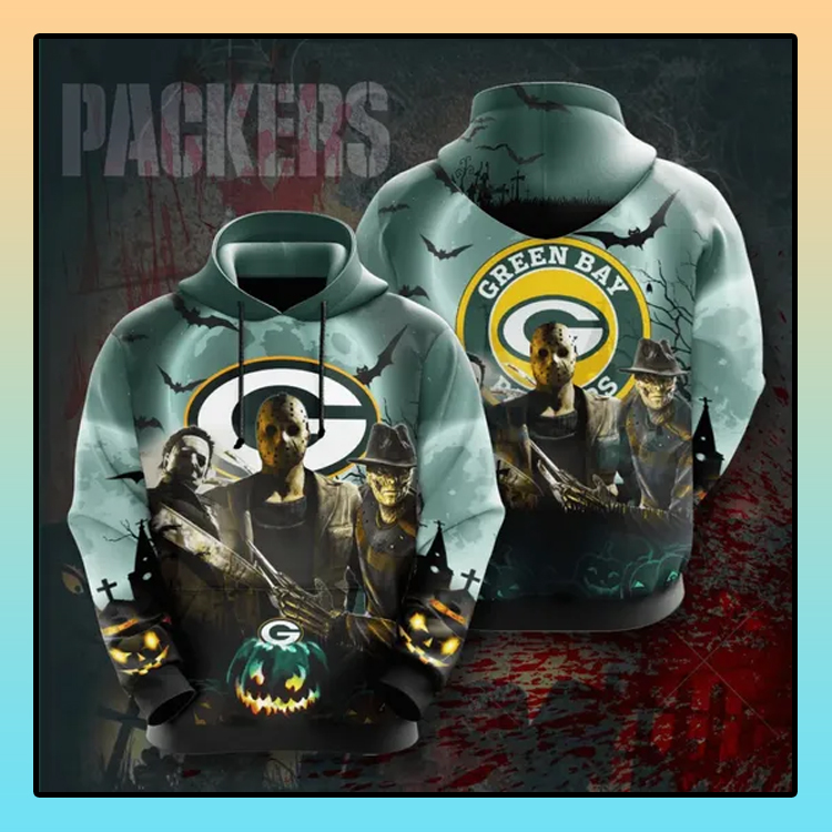 Horror Character Green Bay Packers All over print 3d hoodie4 1