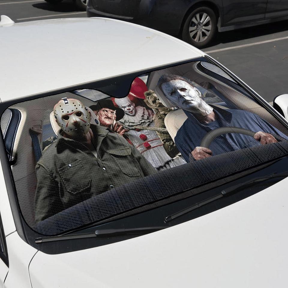 Horror characters car sunshade 1.1