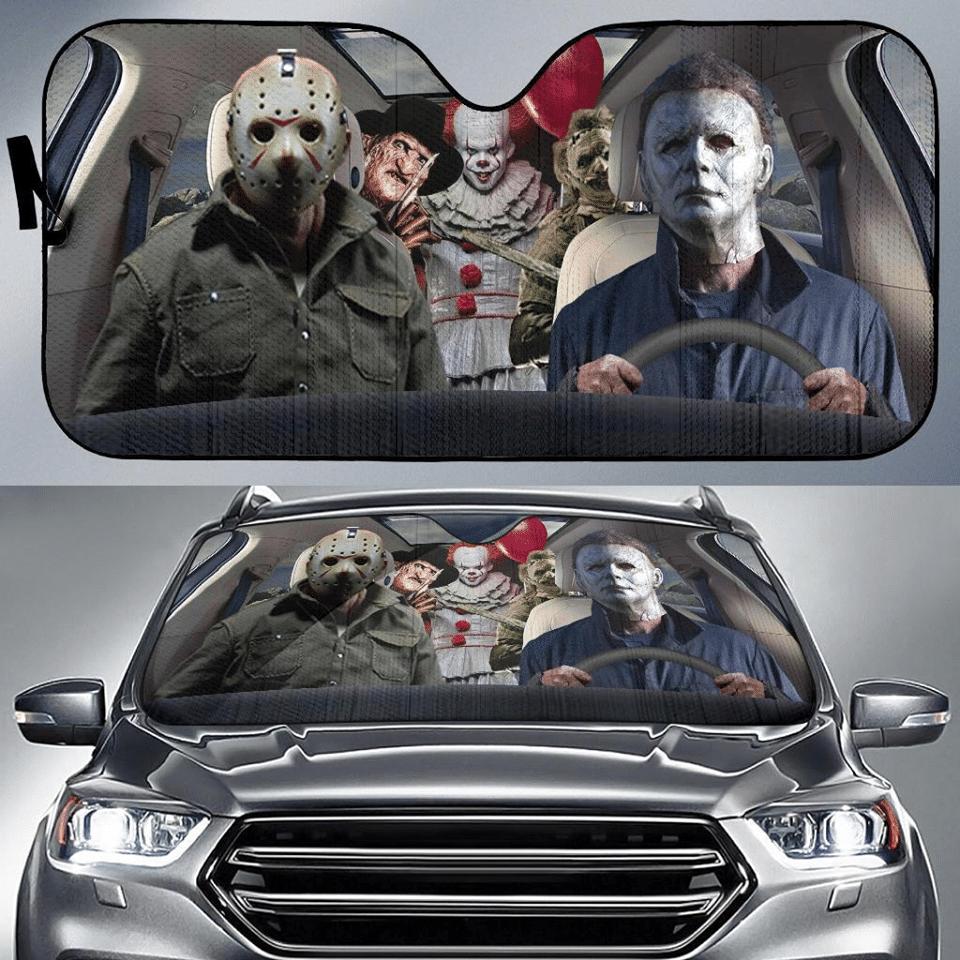 Horror characters car sunshade 1