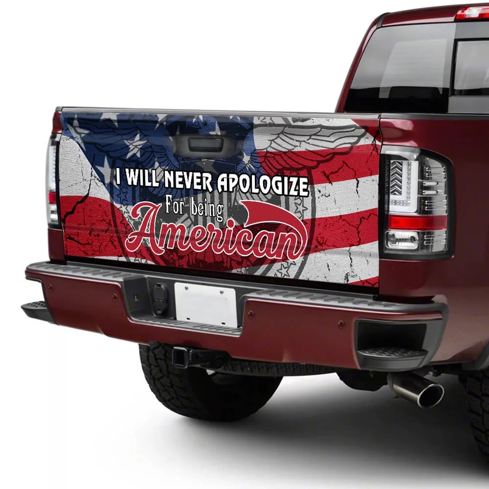 I will never apologize for being American decal sticker wrap 3