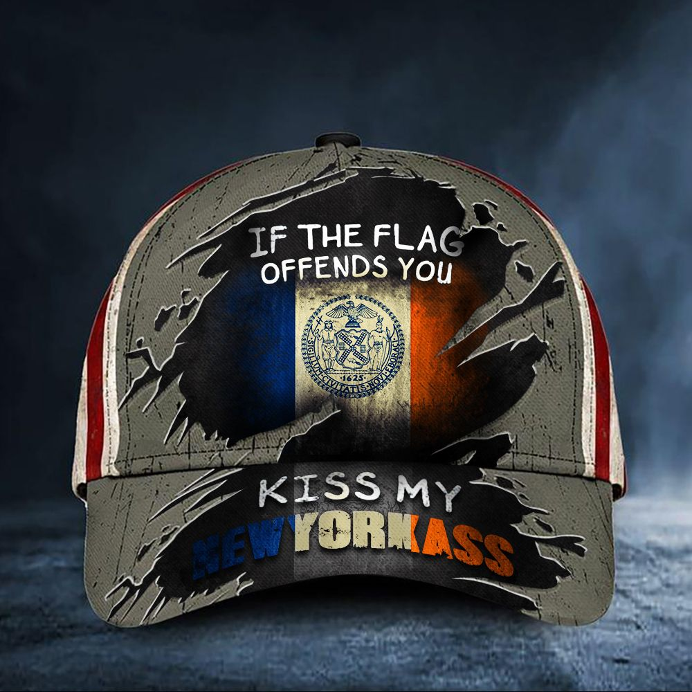 If The Flag Offends You Kiss My New York Cap hat