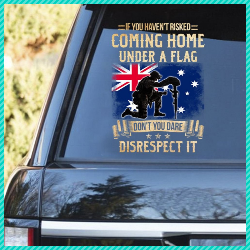 If you havent risked coming home under a flag decal 1