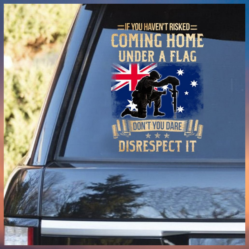 If you havent risked coming home under a flag decal