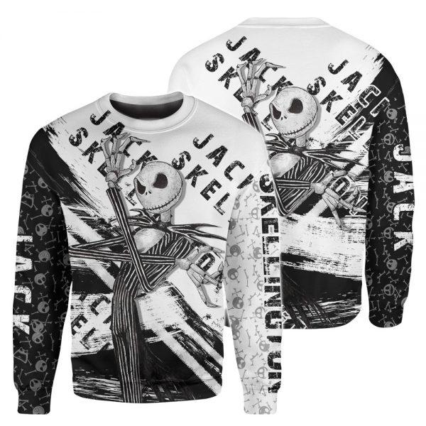 Jack Skellington Sally The Nightmare Before Christmas Custom Name Black Shirt And Hoodie2