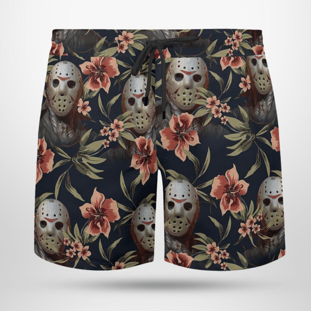 Jason Voorhees Hawaii shirt and short 3