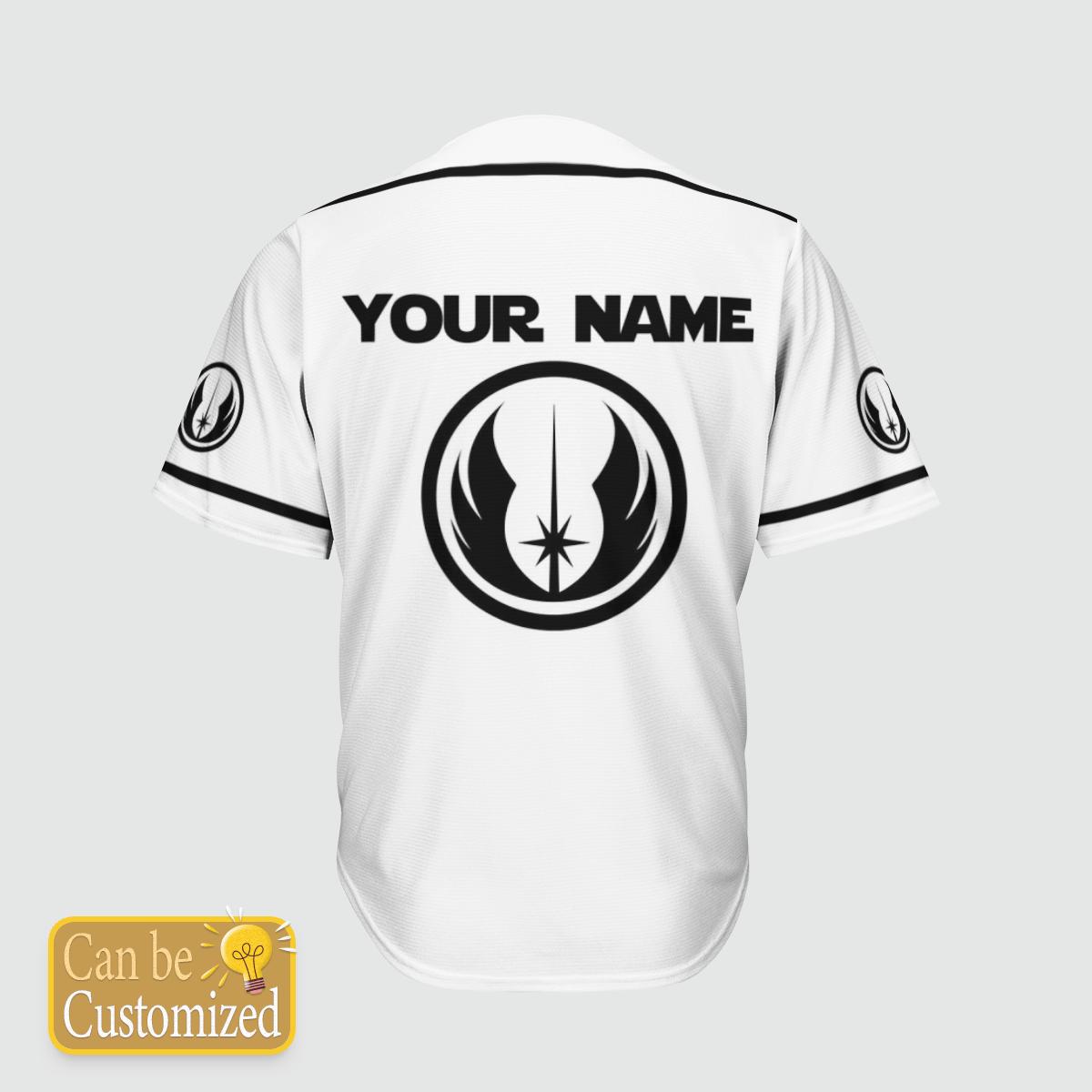 Jedi Star Wars custom name baseball shirt 1