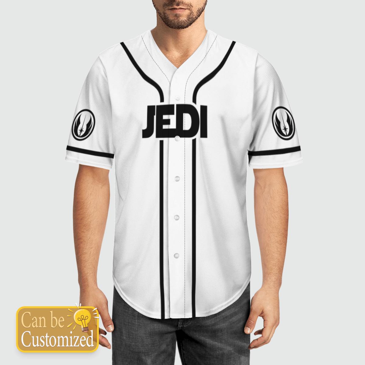 Jedi Star Wars custom name baseball shirt 2