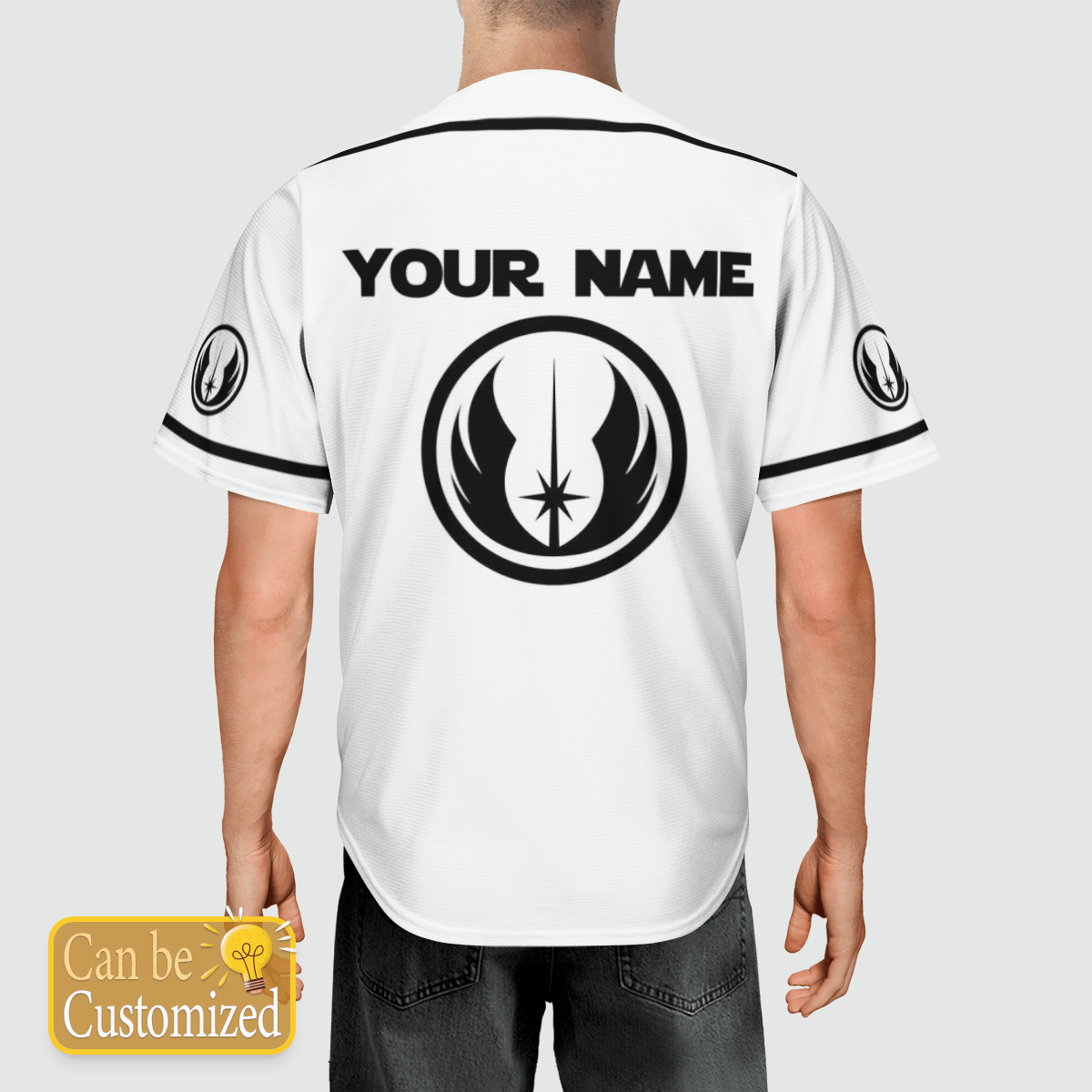 Jedi Star Wars custom name baseball shirt 3