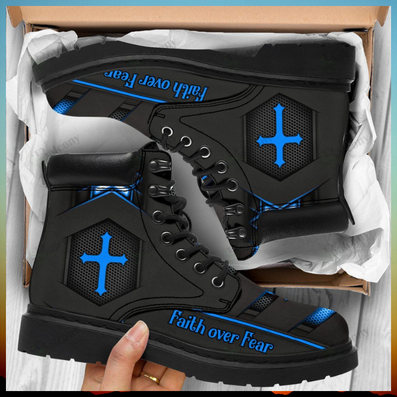 Jesus faith over fear timberland boots 1