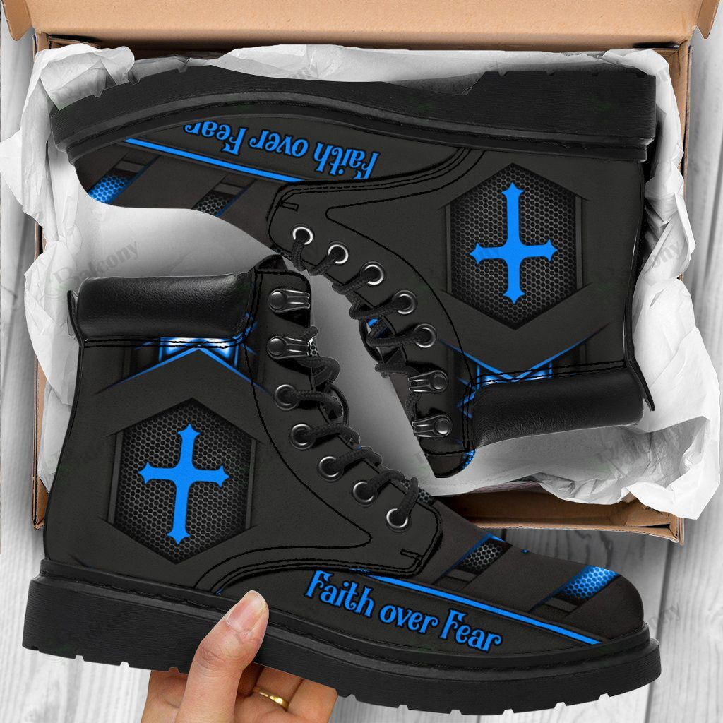 Jesus faith over fear timberland boots