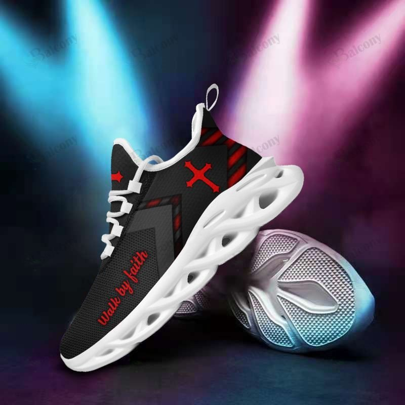 Jesus walk by faith yeezy max soul clunky shoes