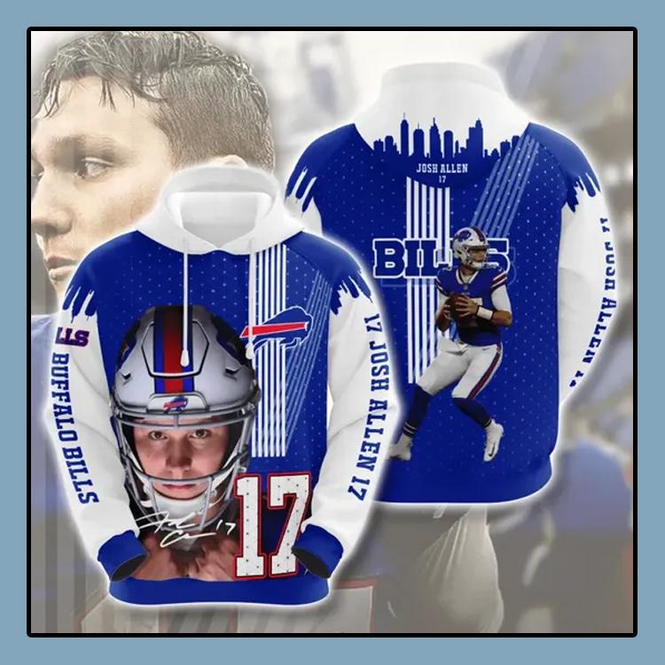 Josh Allen 17 Buffalo Bills All over print 3d hoodie1 1